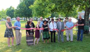 Ribbon Cutting of the Center June 12, 2014 with local